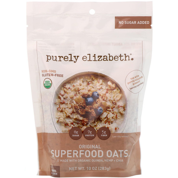 Purely Elizabeth, Organic Superfood Oats, Original, 10 oz (283 g) (Discontinued Item)