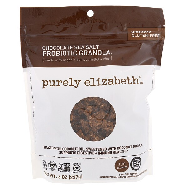 Purely Elizabeth, Probiotic Granola, Chocolate Sea Salt, 8 oz (227 g)