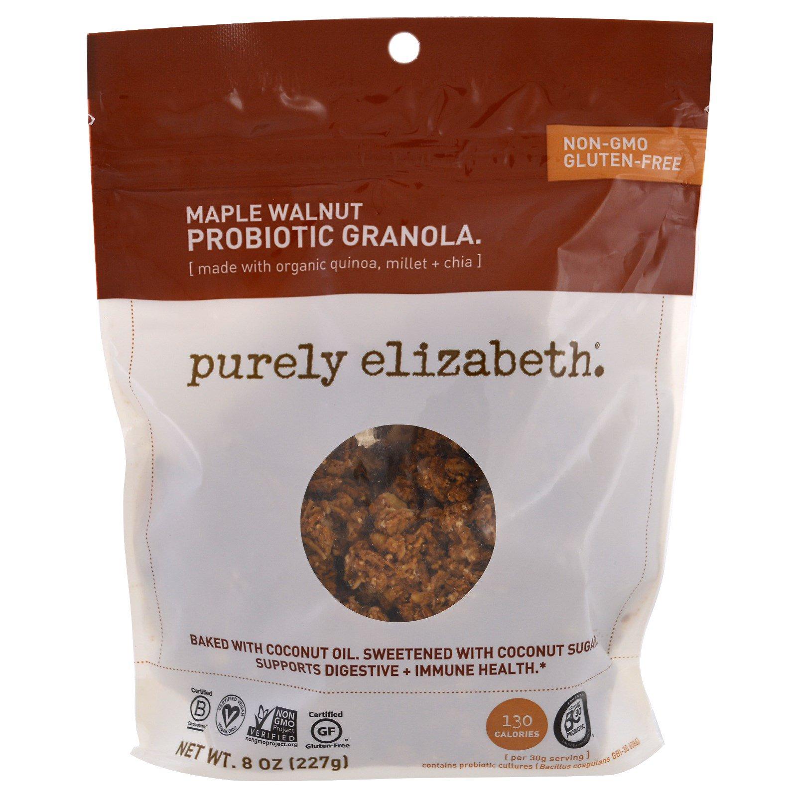 Purely Elizabeth, Пробиотик-гранола, кленовый орех, 227 г (8 унций)