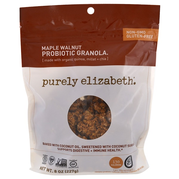 Purely Elizabeth, Probiotic Granola, Maple Walnut, 8 oz (227 g) (Discontinued Item)