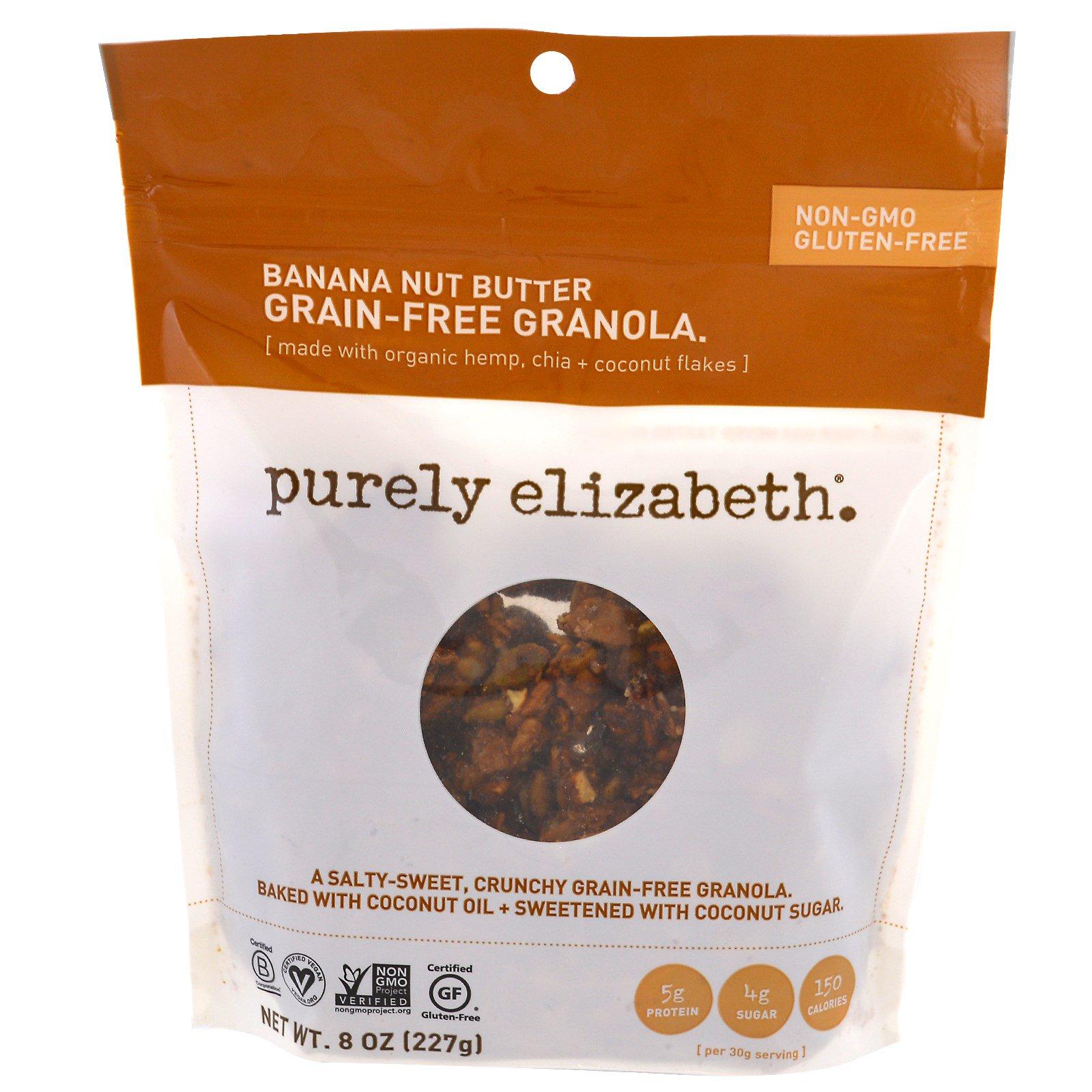Purely Elizabeth, Гранола без зернистых, банановое масло, 227 г (8 унций)