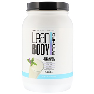 Jamie Eason, Lean Body for Her, 100% Whey Protein Shake, Vanilla, 2 lbs (1260 g)