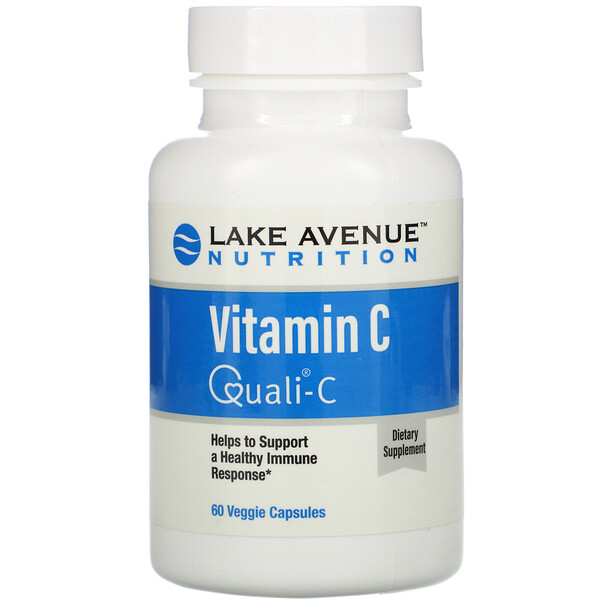 Lake Avenue Nutrition, Vitamin C, Quali-C, 1,000 mg, 60 Veggie Capsules