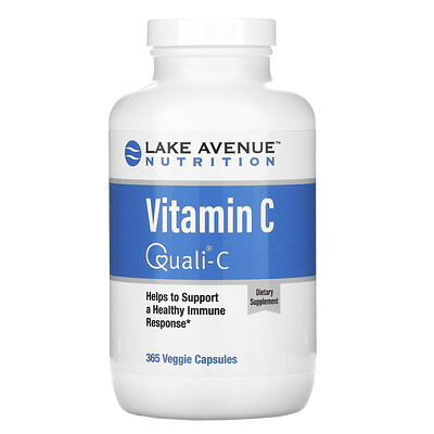 Lake Avenue Nutrition Витамин C, с Quali-C, 1000 мг, 365 вегетарианских капсул