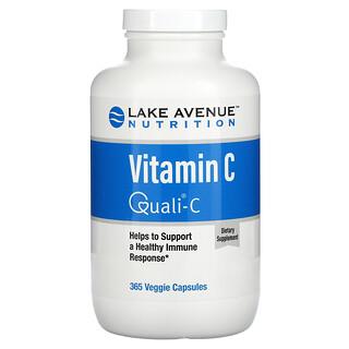 Lake Avenue Nutrition, Quali-C, VitamineC, 1000mg, 365capsules végétariennes