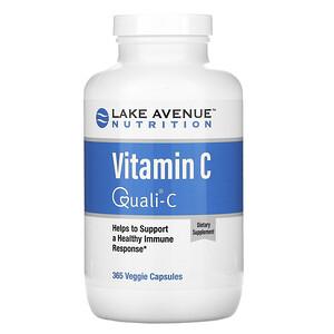 Lake Avenue Nutrition, Vitamin C, Quali-C, 1,000 mg, 365 Veggie Capsules отзывы покупателей