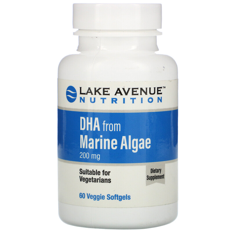 Lake Avenue Nutrition, 海藻 DHA,素食 Omega,200 毫克,60 粒素食軟膠囊