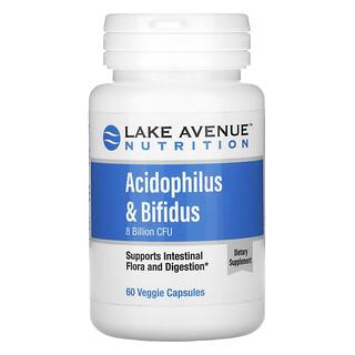 Lake Avenue Nutrition, Acidophilus & Bifidus, Probiotic Blend, 8 Billion CFU, 60 Veggie Capsules