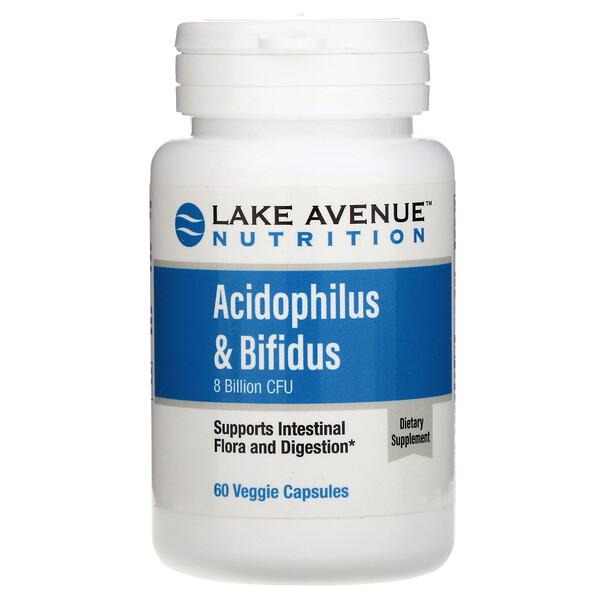 Acidophilus & Bifidus, 8 Billion CFU, 60 Veggie Capsules