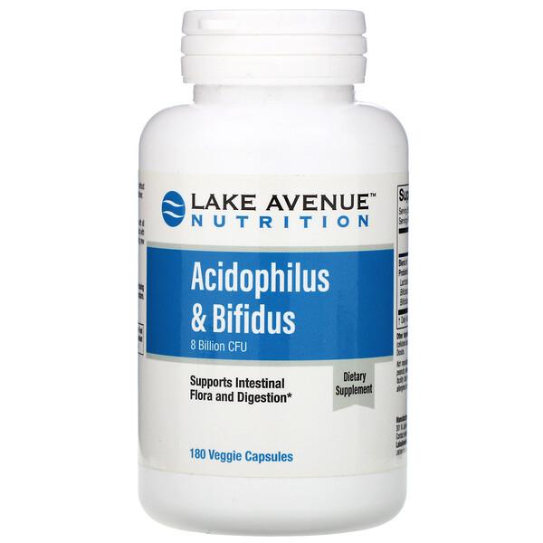 Acidophilus & Bifidus, Probiotic Blend, 8 Billion CFU, 180 Veggie Capsules
