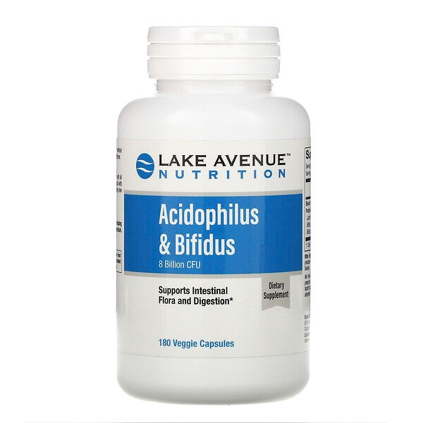 Acidophilus & Bifidus, Probiotic Blend, 8 Billion CFU, 180 Veggie Capsules