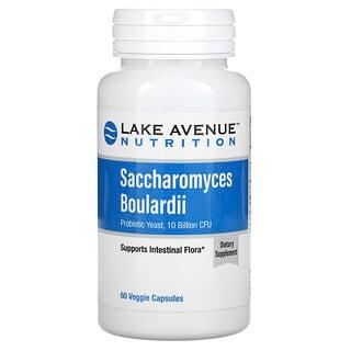 Lake Avenue Nutrition, Saccharomyces Boulardii, Probiotic Yeast, 10 Billion CFU, 60 Veggie Capsules