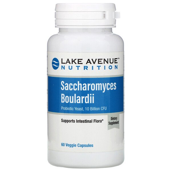 Saccharomyces Boulardii, Probiotic Yeast, 10 Billion CFU, 60 Veggie Capsules