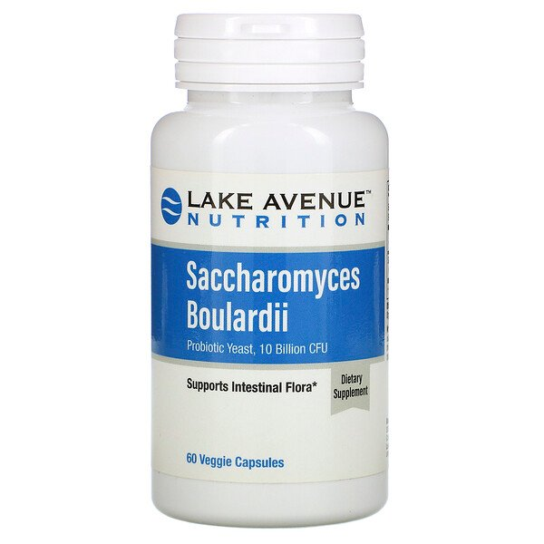 Lake Avenue Nutrition, Saccharomyces boulardii, Levadura probiótica, 10.000 millones de UFC, 60 cápsulas vegetales