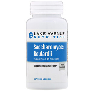 Lake Avenue Nutrition, Saccharomyces Boulardii, Probiotic Yeast, 10 Billion CFU, 60 Veggie Capsules