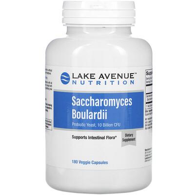Lake Avenue Nutrition Сахаромицеты Буларди, пробиотические дрожжи, 10млрд КОЕ, 180растительных капсул