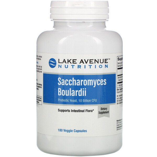 Saccharomyces Boulardii, Probiotic Yeast, 10 Billion CFU, 180 Veggie Capsules