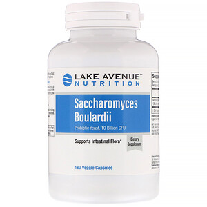 Lake Avenue Nutrition, Saccharomyces Boulardi, Probiotic Yeast, 10 Billion CFU, 180 Veggie Capsules