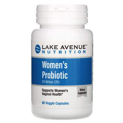 Купить Lake Avenue Nutrition Пробиотики для женщин, 20млрд КОЕ, 60растительных капсул