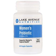 Lake Ave. Nutrition, Women's Probiotics, 20 Billion CFU, 60 Veggie Capsules