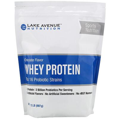 Купить Lake Avenue Nutrition Сывороточный протеин и пробиотик, шоколадный вкус, 907г (2фунта)