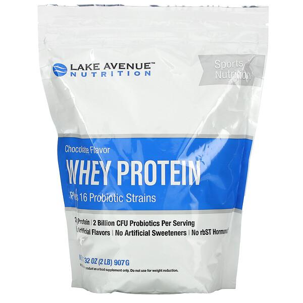 بروتين الشرش + بروبيوتيك، نكهة الشيكولاتة، 2 رطل (907 جم)