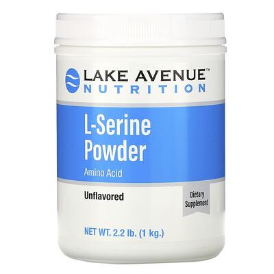 Купить Lake Avenue Nutrition L-серин в порошке с нейтральным вкусом, 1кг (2, 2 фунта)