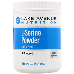 Lake Ave. Nutrition, L-Serine, Unflavored Powder, 2.2 lb (1 kg)