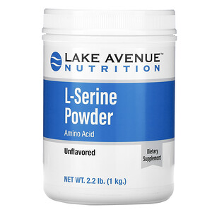 Lake Avenue Nutrition, L-Serine, Unflavored Powder, 2.2 lb (1 kg) отзывы