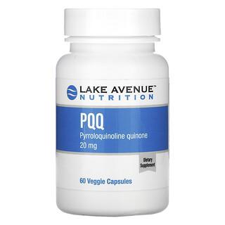 Lake Avenue Nutrition, بيرولوكوينولين كوينون، 20 ملجم، 60 كبسولة نباتية