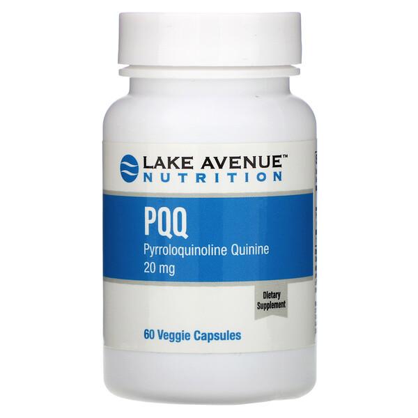 PQQ (Pyrroloquinoline Quinine), 20 mg, 60 Veggie Capsules