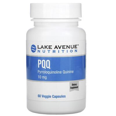 Lake Avenue Nutrition PQQ (пирролохинолинхинон), 10мг, 60растительных капсул