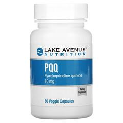 Lake Avenue Nutrition, PQQ(吡咯喹啉醌),10 毫克,60 粒素食胶囊