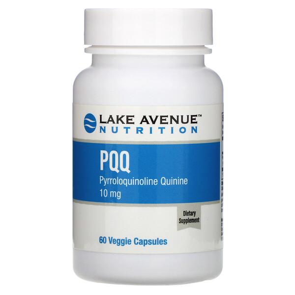 Lake Avenue Nutrition, PQQ (Pirroloquinolina Quinona), 10 mg, 60 Cápsulas Vegetais