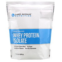 Lake Avenue Nutrition, Whey Protein Isolate, Creamy Chocolate, 2 lb (907 g)