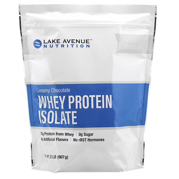 Whey Protein Isolate, Creamy Chocolate, 2 lb (907 g)