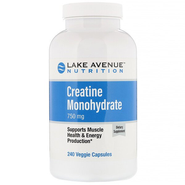 Lake Avenue Nutrition, Creatine Monohydrate , 750 mg, 240 Veggie Capsules