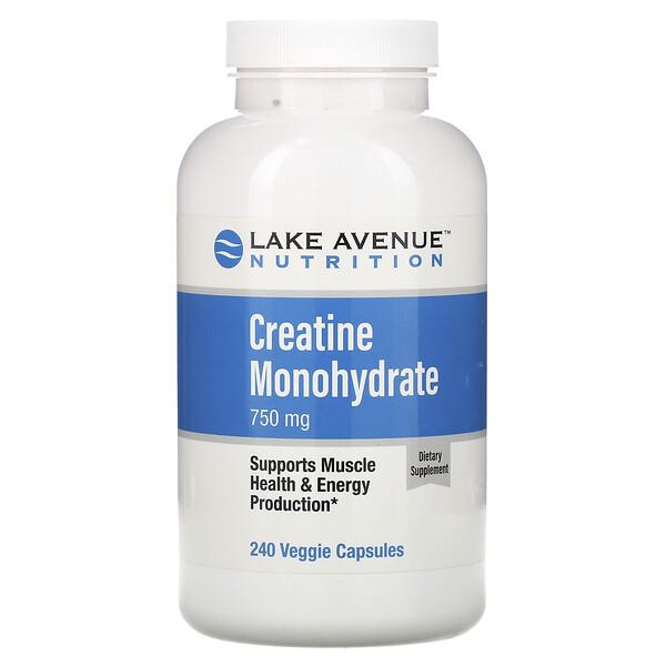 Creatine Monohydrate, 750 mg, 240 Veggie Capsules