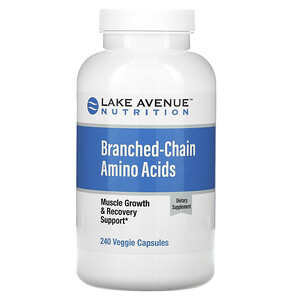 Lake Avenue Nutrition, Branched-Chain Amino Acids, 240 Veggie Capsules отзывы покупателей