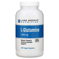 L-глютамин, 1000мг, 240растительных капсул - фото