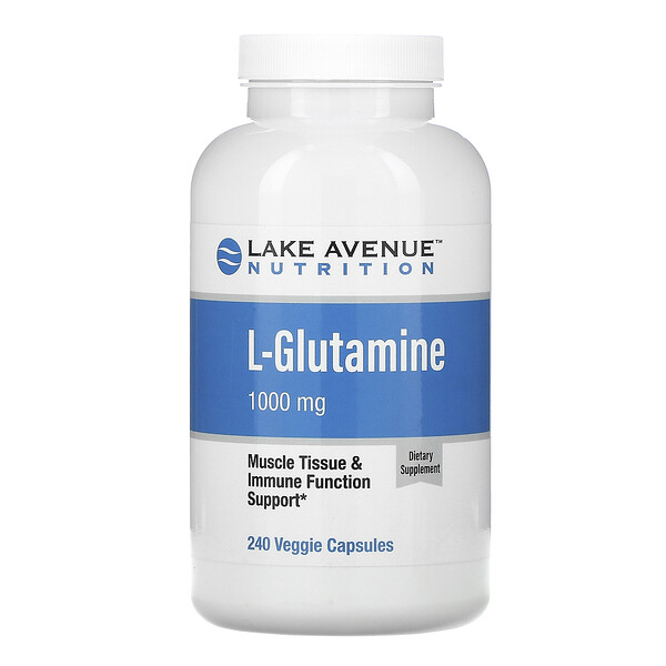 Lake Avenue Nutrition, L-Glutamine, 1,000 mg, 240 Veggie Capsules