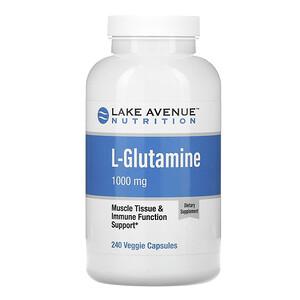 Lake Avenue Nutrition, L-Glutamine, 1,000 mg, 240 Veggie Capsules отзывы покупателей