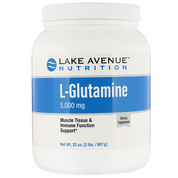 Lake Avenue Nutrition, Glutamine Powder, Unflavored, 2 lb (907 g)