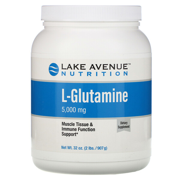 Lake Avenue Nutrition, L-Glutamine Powder, Unflavored, 5,000 mg , 32 oz (907 g)