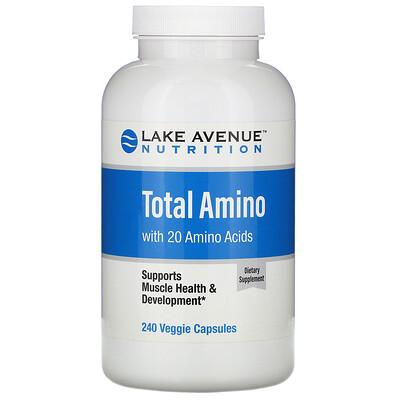 Купить Lake Avenue Nutrition Аминокислоты, 240растительных капсул