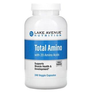 Lake Avenue Nutrition, أحماض أمينية كاملة، 240 كبسولة نباتية