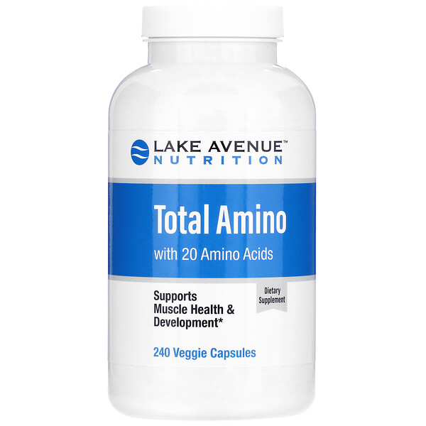Lake Avenue Nutrition, Total Amino, 240 Veggie Capsules