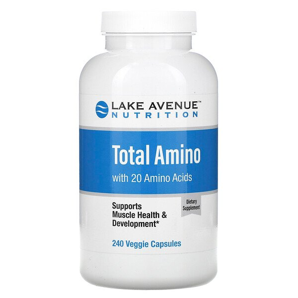 Lake Avenue Nutrition, Total amino, 240 cápsulas vegetales