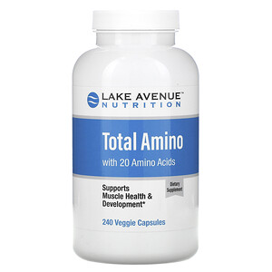 Lake Avenue Nutrition, Total Amino, 240 Veggie Capsules отзывы покупателей