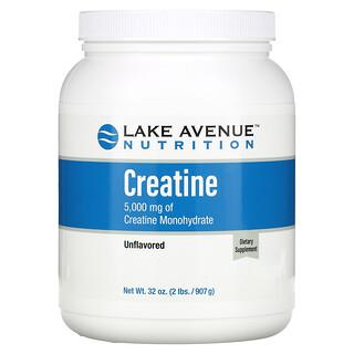 Lake Avenue Nutrition, Creatine Powder, Unflavored, 5,000 mg, 32 oz (907 g)